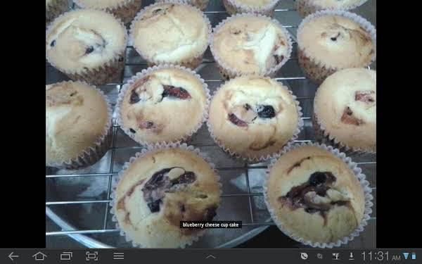 Blueberry Cheese Cupcake Recipe