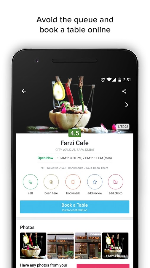 Screenshots of Zomato - Restaurant Finder for iPhone