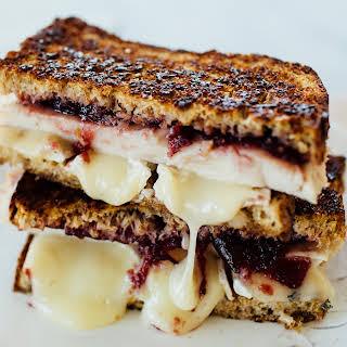 Grilled Turkey, Cranberry & Brie Sandwich.