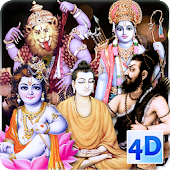 4D All Avatars (Dashavatara) Live Wallpaper