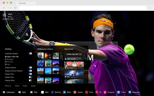 Rafael Nadal HD Wallpapers Pop New Tabs Theme