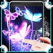 Neon Butterfly 3D Keyboard