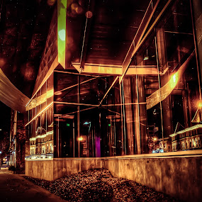A Dreamy Kind of Night. by Nathaniel Jorge - City,  Street & Park  Street Scenes ( hdr, long exposure, night, va, roanoke, taubamn museum )