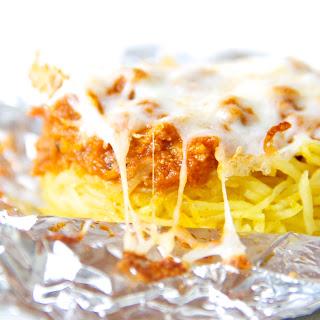Skinny Spaghetti Squash Bake with Turkey Bolognese