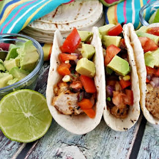 Chili Lime Chicken Tacos.