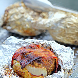 Campfire Meatloaf in Onion Cups in Foil Packets
