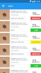 "Molexplore ""Skin Cancer App""- screenshot thumbnail"