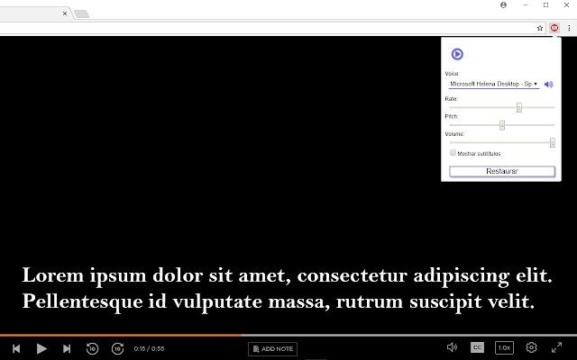 Extension para hablar subtítulos