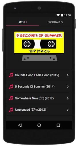 5 Second Of Summer Lyrics Top