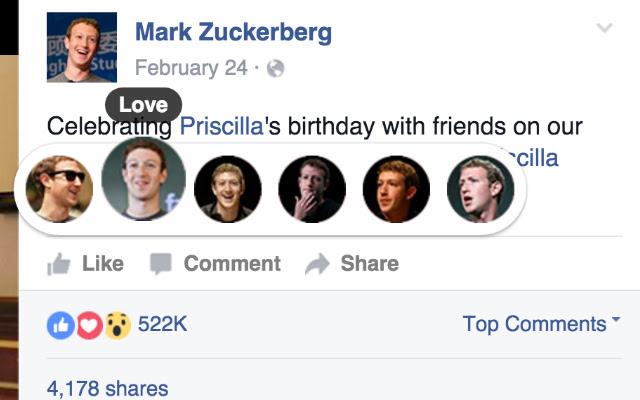 Mark Zuckerberg Reactions