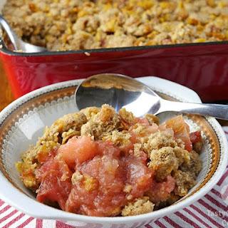 Gluten Free Apple and Rhubarb Crisp Recipe