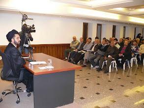 Photo: محاضرة مناهضة العنف ضد المرأة مع السيد جعفر فضل الله