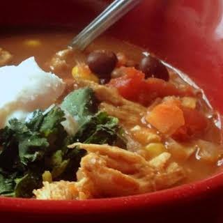 Healthier Slow Cooker Chicken Taco Soup.