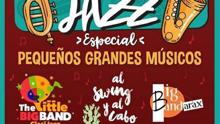 Cartel Especial Pequeños Grandes Músicos en Clasijazz.