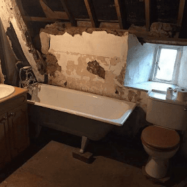 An existing bathroom in Wardington - Oxfordshire