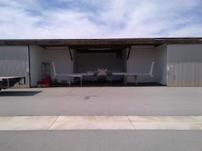 Photo: N753CZ home safe and sound at Hangar Echo Seven at San Carlos Airport.