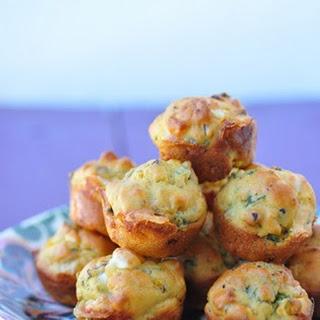 Kale Feta Butternut Squash Mini Muffins