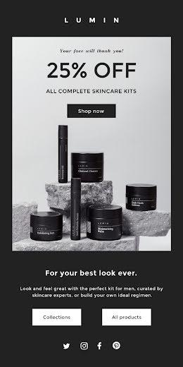 Lumin Skincare Kits - Medium Email item