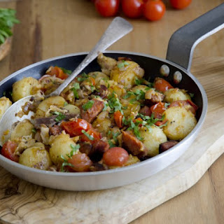 Country Sausage And Potato Skillet Hash