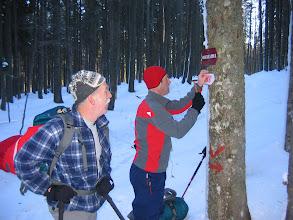 Photo: Zvone je kot markacist, poskrbel za oznake na poti.