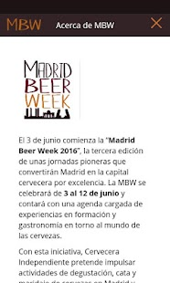 Madrid Beer Week: miniatura de captura de pantalla