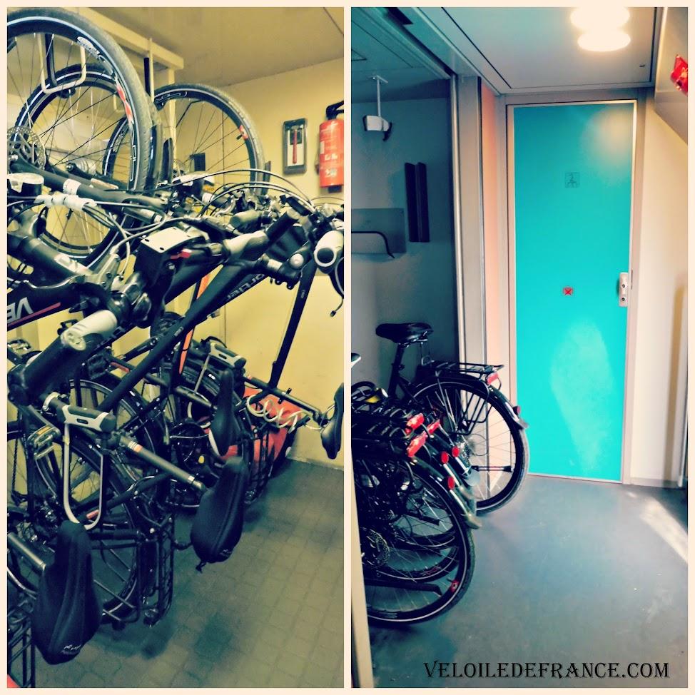 Les compartiments vélos dans trains