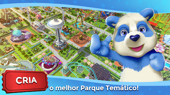RollerCoaster Tycoon Touch Apk Mod Dinheiro Infinito 1