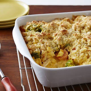 Cheesy Chicken and Vegetable Casserole.