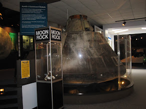 Photo: Main room with Apollo spacecraft and lunar sample