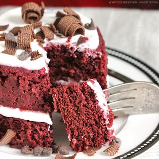 Healthy Single-Serving Red Velvet Microwave Cake.