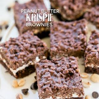 Peanut Butter Krispie Brownies.