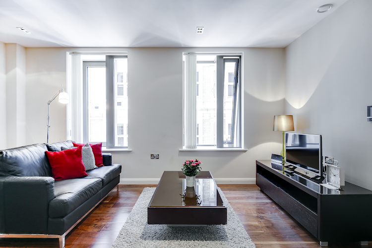 Living area at Aston House Serviced Apartments, Farringdon