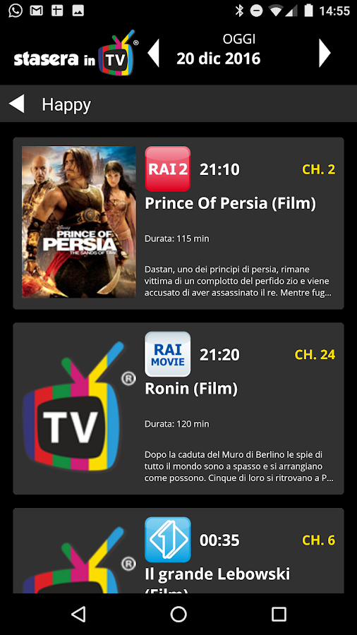 StaseraInTV- screenshot