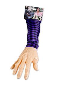Arm, fastklämd