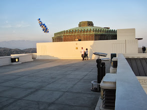 Photo: Looking east on the observatory rooftop. The San Gabriel Mountains grace the horizon.