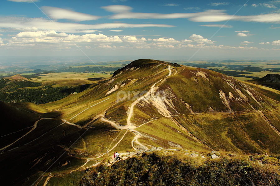 Auvergne, France by Theophile Champagnat - Landscapes Mountains & Hills