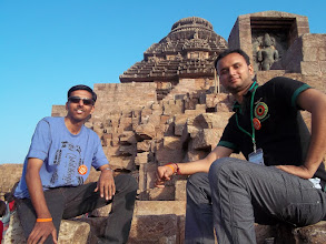 Photo: I and Mitesh posing before Lord Sun !