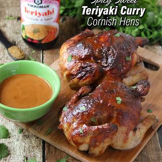 Spicy Sweet Teriyaki Curry Cornish Hens