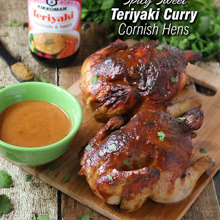 Spicy Sweet Teriyaki Curry Cornish Hens.