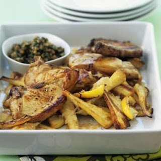 Baked Pork Chops with Parsnips