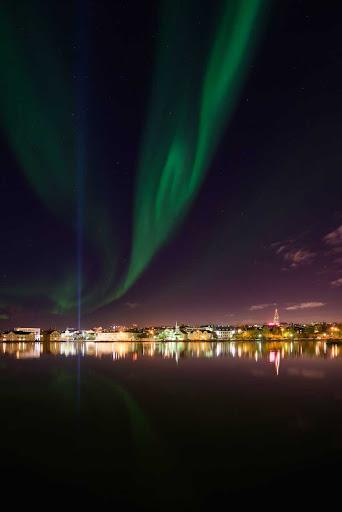 Iceland-Northern-Lights2.jpg - The Northern Lights near Reykjavik, Iceland.