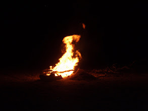 Photo: finally had a fire other nights were too windy.