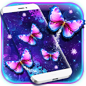 Purple Butterfly Live Wallpaper Android APK Download Free By Cool Theme Team