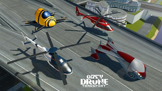 Drone Taxi Sim: Flying Rescue Car & Transport Game - náhled