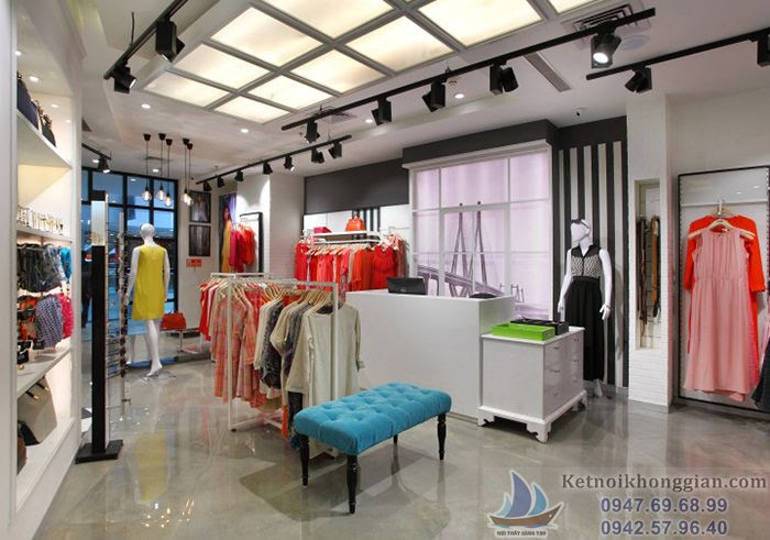 thiết kế shop thời trang forever young