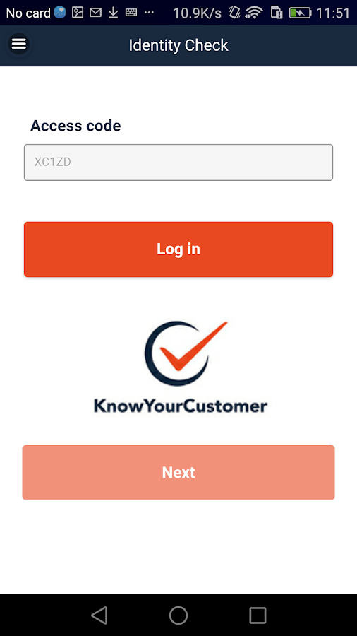 Know Your Customer- screenshot