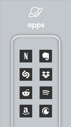 Square Dark UI - Icon Pack screenshot 3