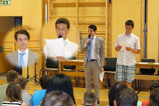 Photo: Die Moderatoren der Verabschiedungsfeier