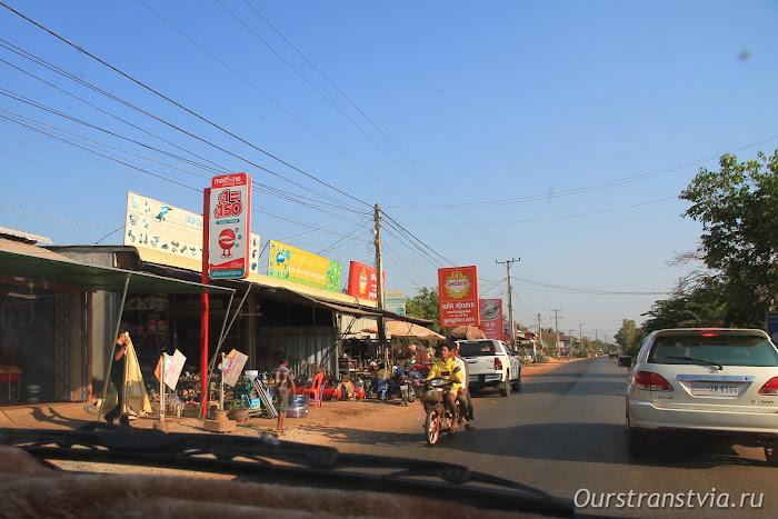 Дорога в Бантей Срей, Камбоджа