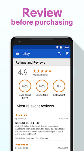 Screenshot 4 for eBay's Android app'